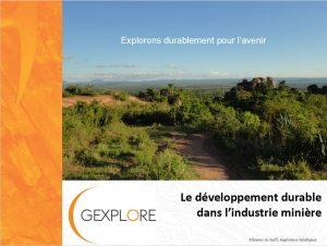 Page de garde du cours sur le développement durable