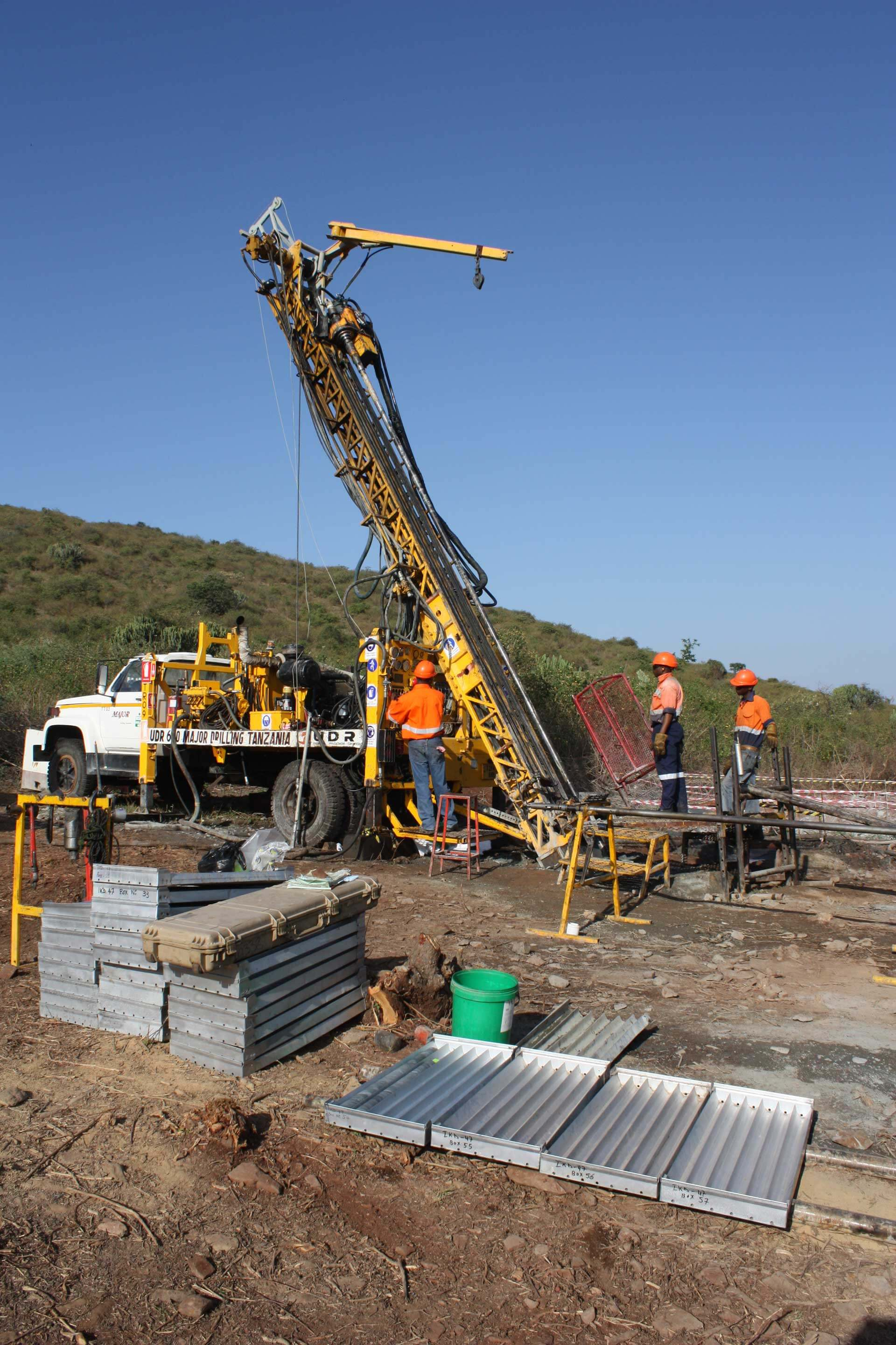 Ongoing core drilling